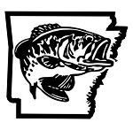 Arkansas Bass Fishing Decal Sticker