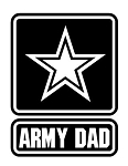 Army Dad Decal Sticker