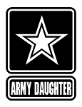 Army Daughter Decal Sticker