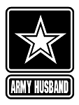 Army Husband Decal Sticker
