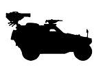 Army Jeep Silhouette v1 Decal Sticker