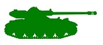 Army Tank Silhouette v3 Decal Sticker