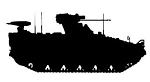 Army Tank Silhouette v6 Decal Sticker