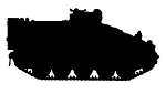 Army Tank Silhouette v8 Decal Sticker