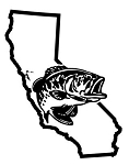 California Bass Fishing Decal Sticker