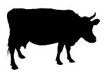 Cow Silhouette v6 Decal Sticker
