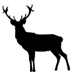 Deer Silhouette v2 Decal Sticker