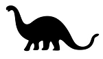 Dinosaur Silhouette v7 Decal Sticker