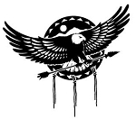 Eagle With Arrow Decal Sticker