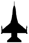 Fighter Jet Silhouette v2 Decal Sticker