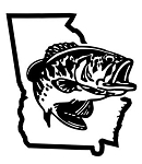 Georgia Bass Fishing Decal Sticker