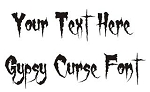 Gypsy Curse Font Decal Sticker