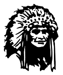 Indian Chief v4 Decal Sticker