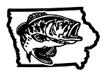 Iowa Bass Fishing Decal Sticker