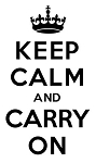 Keep Calm and Carry On Decal Sticker