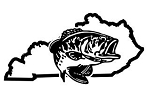 Kentucky Bass Fishing Decal Sticker