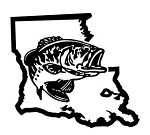 Louisiana Bass Fishing Decal Sticker