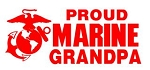 Marine Grandpa Decal Sticker