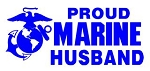 Marine Husband Decal Sticker