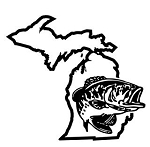 Michigan Bass Fishing Decal Sticker