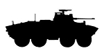 Military Vehicle Silhouette v1 Decal Sticker