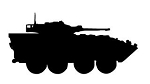 Military Vehicle Silhouette v2 Decal Sticker