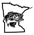 Minnesota Bass Fishing Decal Sticker