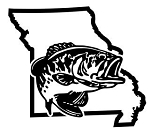 Missouri Bass Fishing Decal Sticker