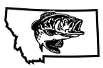 Montana Bass Fishing Decal Sticker