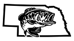 Nebraska Bass Fishing Decal Sticker