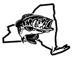 New York Bass Fishing Decal Sticker
