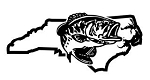 North Carolina Bass Fishing Decal Sticker
