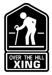 Over The Hill Xing Decal Sticker