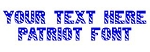 Patriot Font Decal Sticker