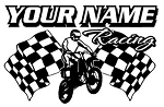 Personalized Motocross Racing v2 Decal Sticker