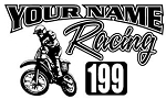 Personalized Motocross Racing v4 Decal Sticker