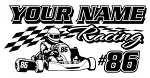 Personalized Shifter Kart Racing v4 Decal Sticker
