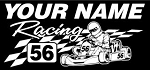 Personalized Shifter Kart Racing v6 Decal Sticker