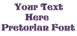 Pretorian Font Decal Sticker