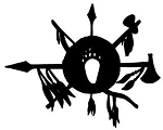 Tomahawks and Spears Decal Sticker