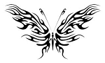 Tribal Butterfly v13 Decal Sticker