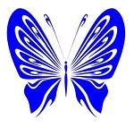 Tribal Butterfly v15 Decal Sticker