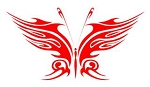 Tribal Butterfly v19 Decal Sticker