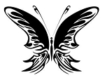 Tribal Butterfly v30 Decal Sticker