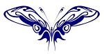 Tribal Butterfly v31 Decal Sticker