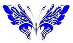Tribal Butterfly v33 Decal Sticker