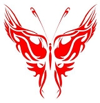 Tribal Butterfly v4 Decal Sticker