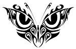 Tribal Butterfly v7 Decal Sticker