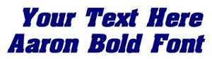Aaron Bold Font Decal