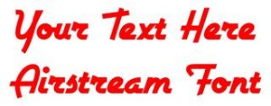 Airstream Font Decal